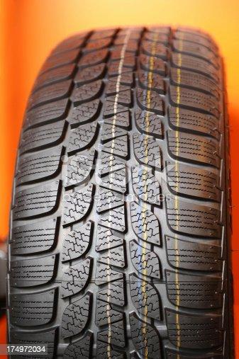 istock Car tire 174972034