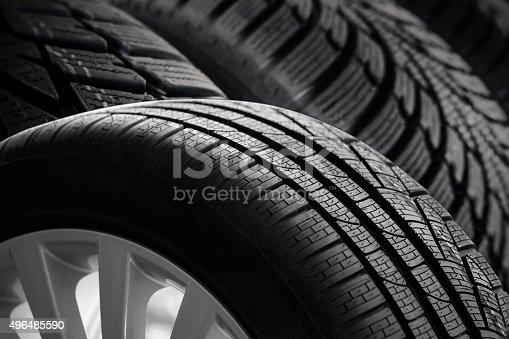 496485590 istock photo car tire profil 496485590