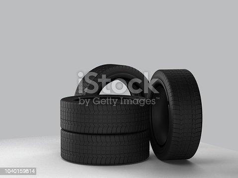 istock car tires 3d-illustration 1040159814