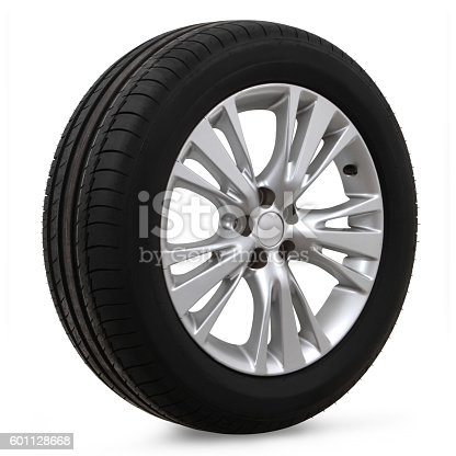 istock car tires on a white background 601128668