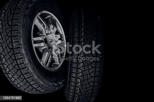 istock car tires with copy space for advertising text 1054751932