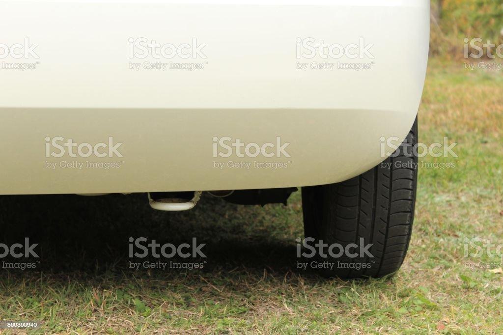 Car tow hook. stock photo