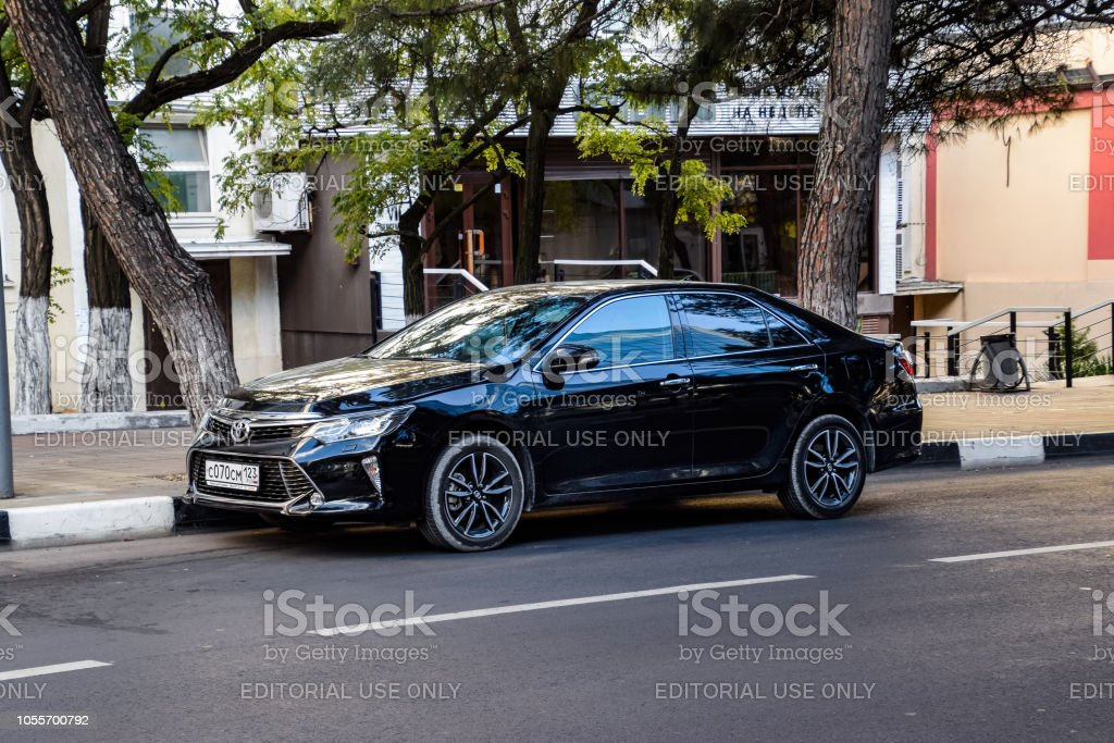 Novorossiysk, Russia - September 29, 2018: Car Toyota Camry parked at...