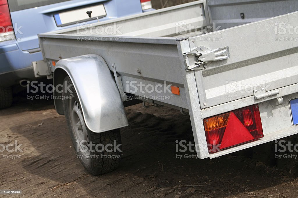 Car trailer for transport royalty-free stock photo