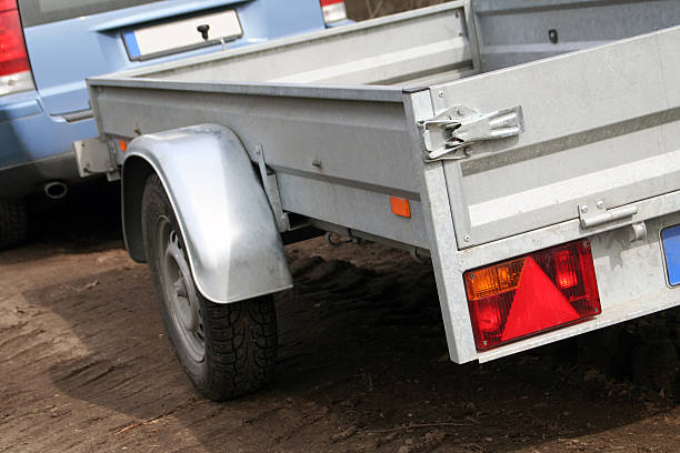 Car trailer for transport  vehicle trailer stock pictures, royalty-free photos & images