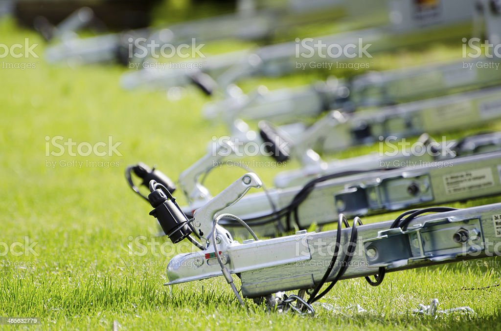 Car trailer hooks stock photo