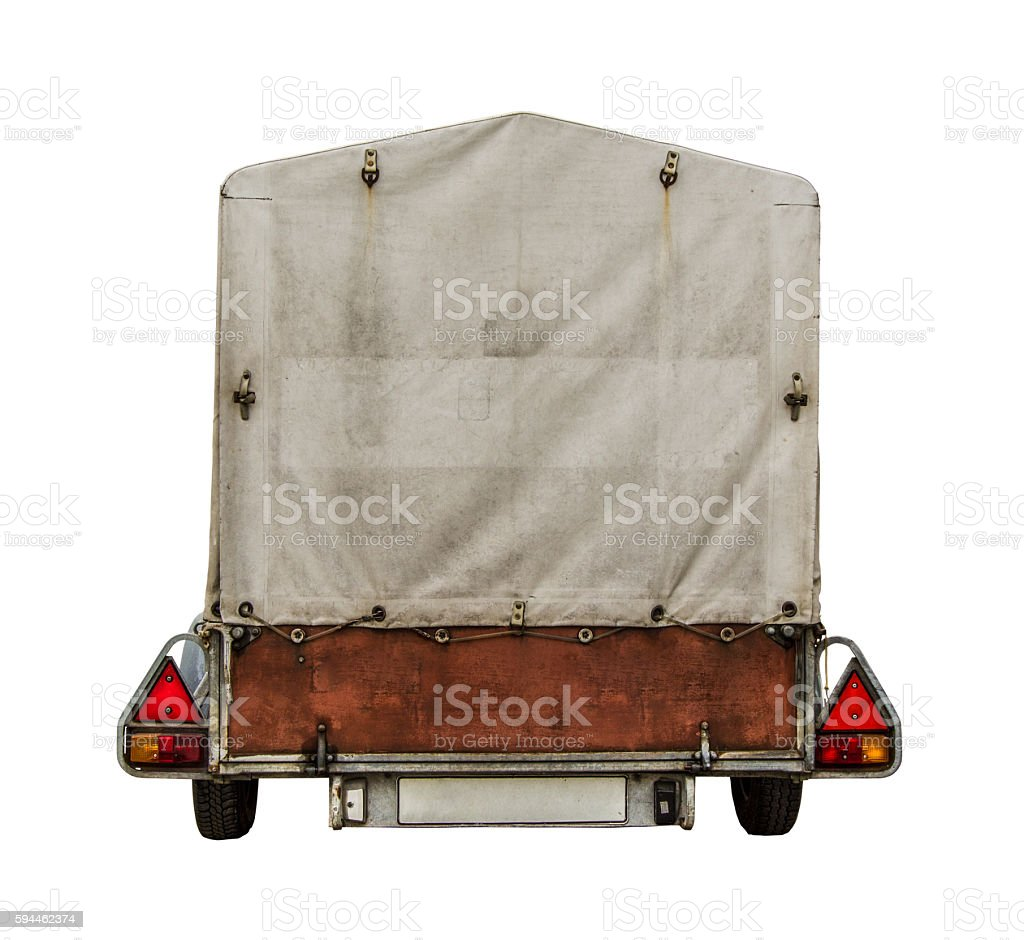 Car Trailer With Canvas stock photo