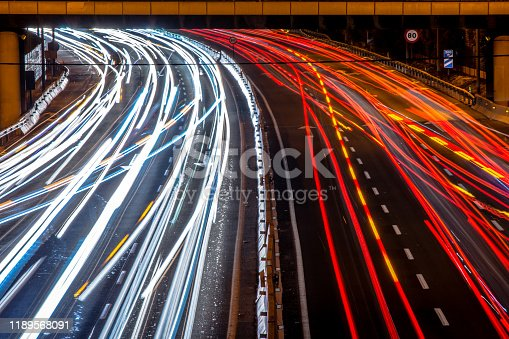 171150458istockphoto Car trails on the highway 1189568091