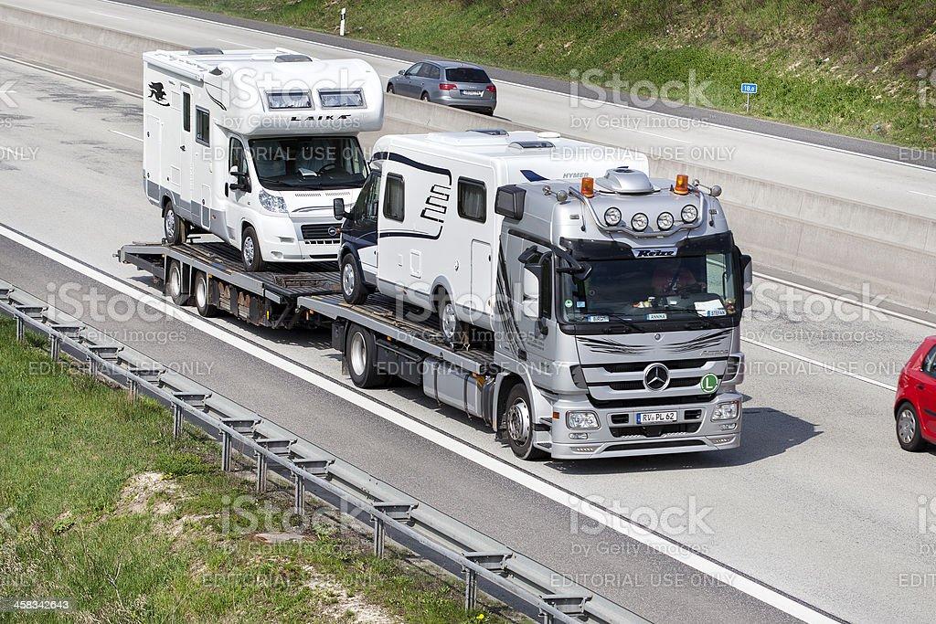 Car transporter royalty-free stock photo