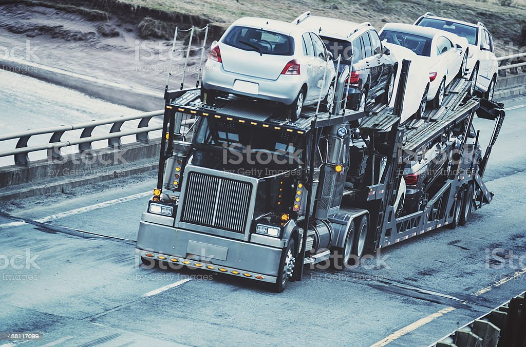 Car Transporter stock photo