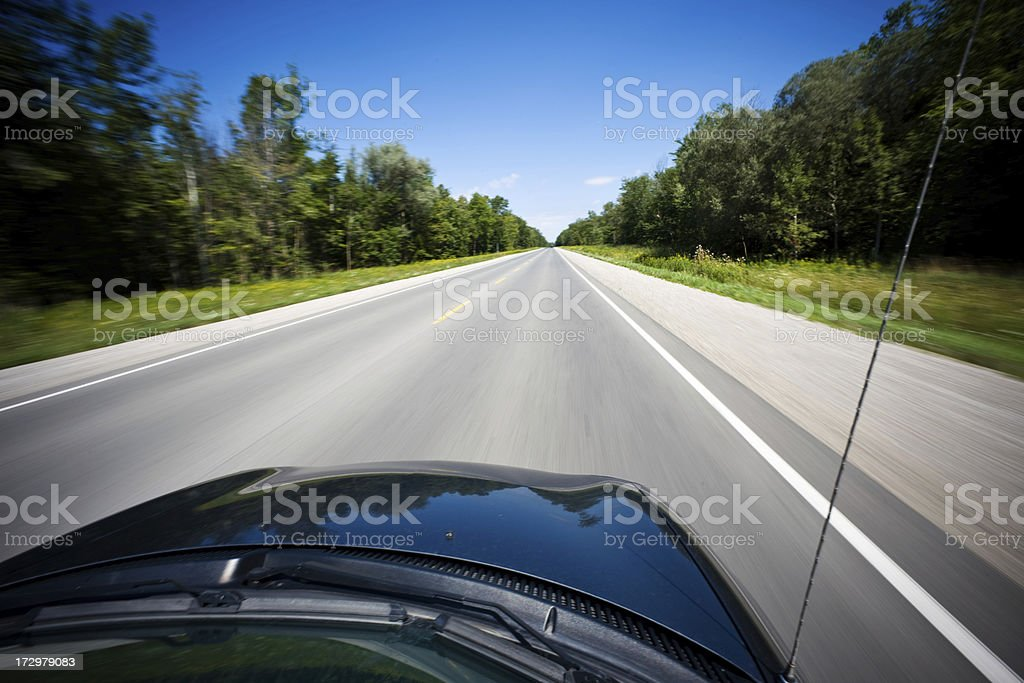 Car travel royalty-free stock photo