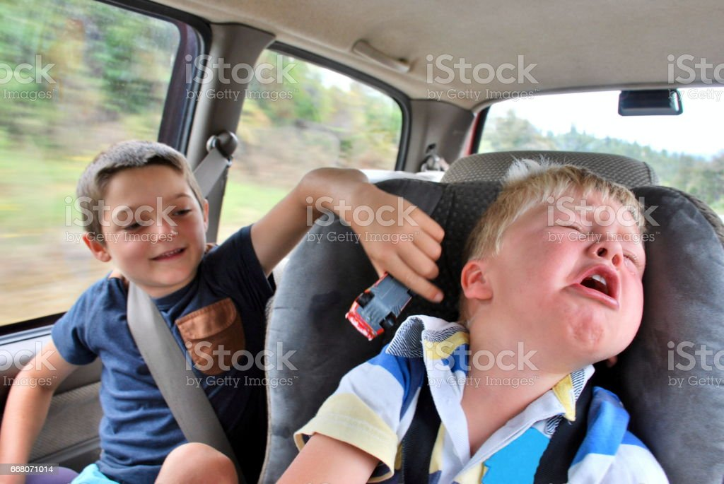 Car Travel with Children stock photo
