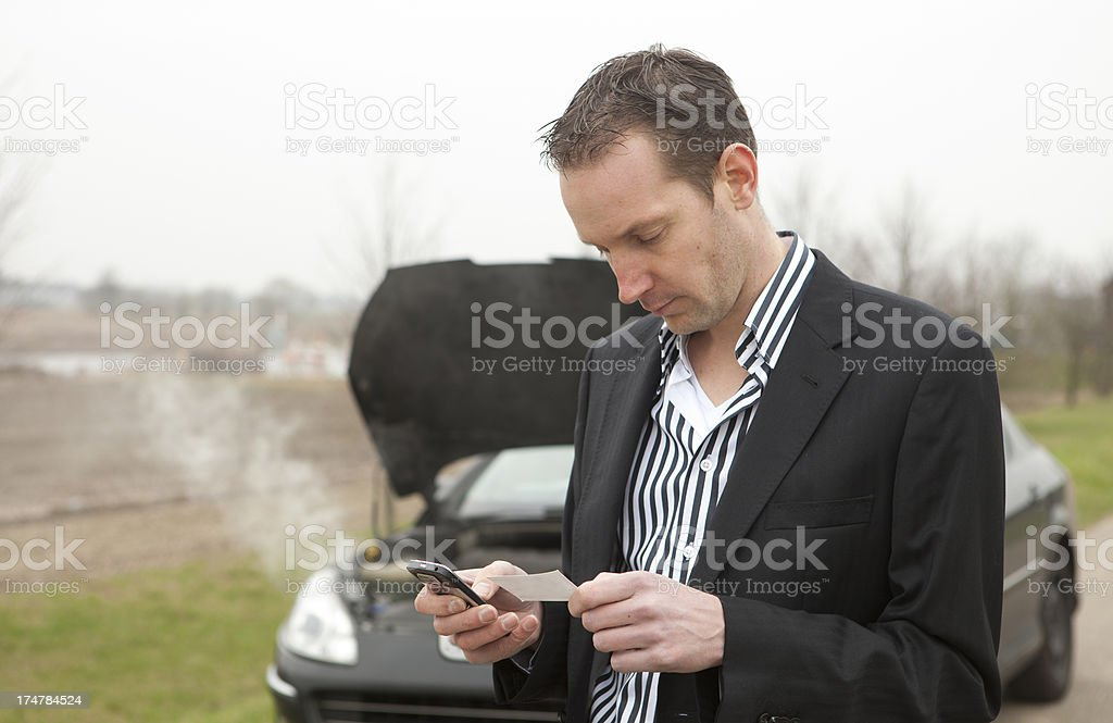 Car trouble, need help royalty-free stock photo