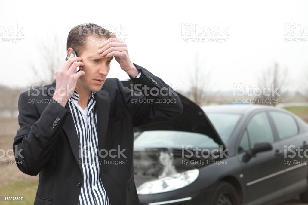 Car trouble, needs assitance royalty-free stock photo