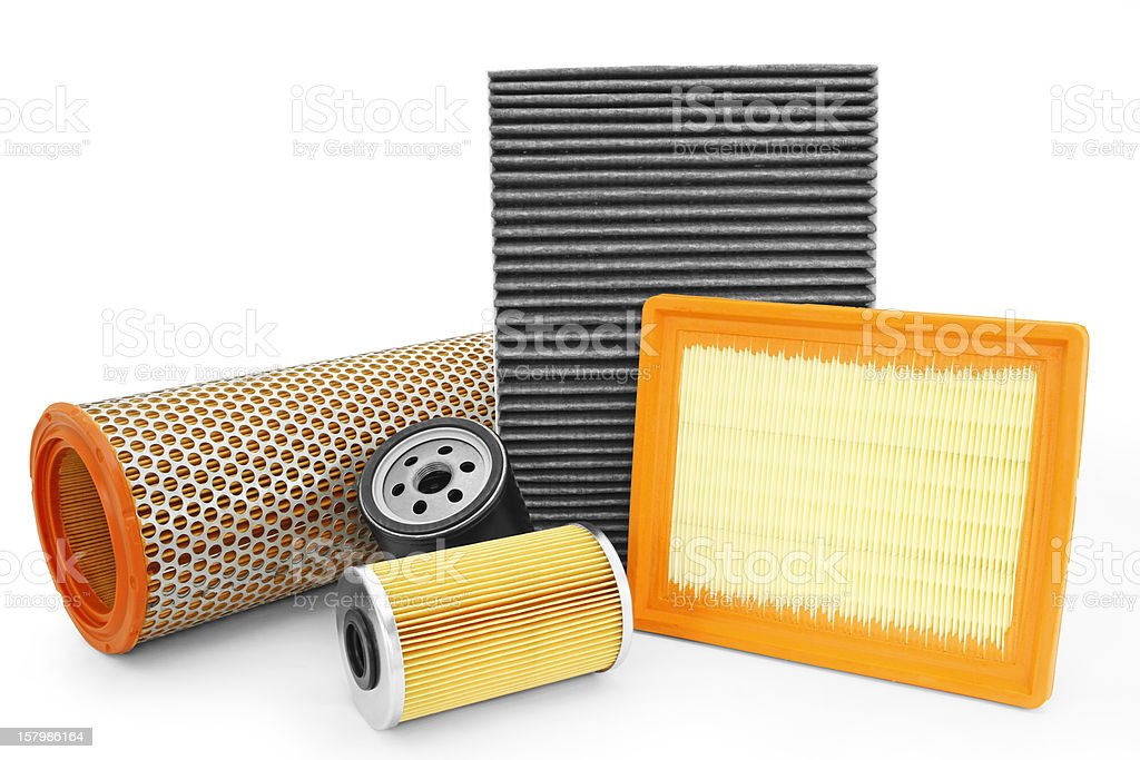 car truck filters oil air filter stock photo
