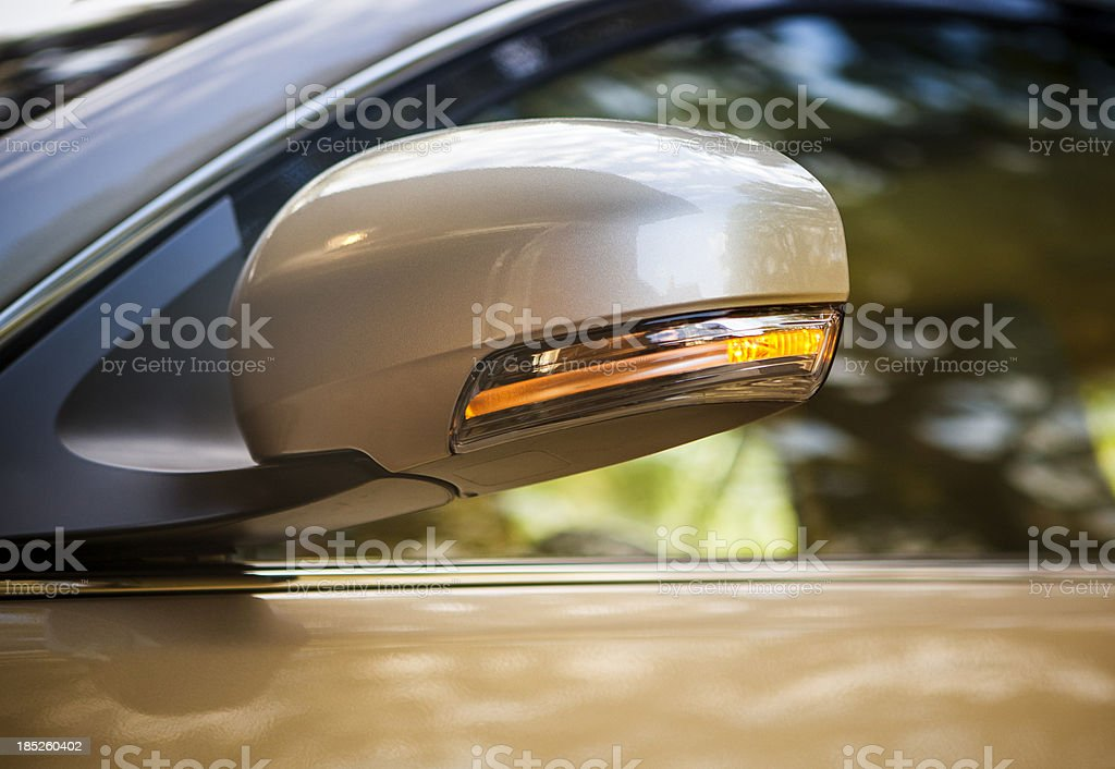 Car turn signal light stock photo