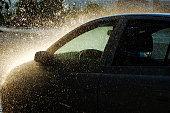 Car under Heavy Rain