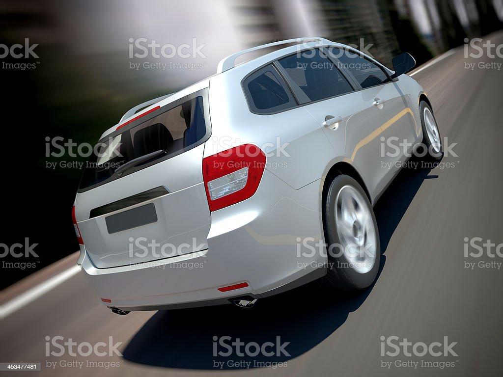 SUV car urban driving royalty-free stock photo