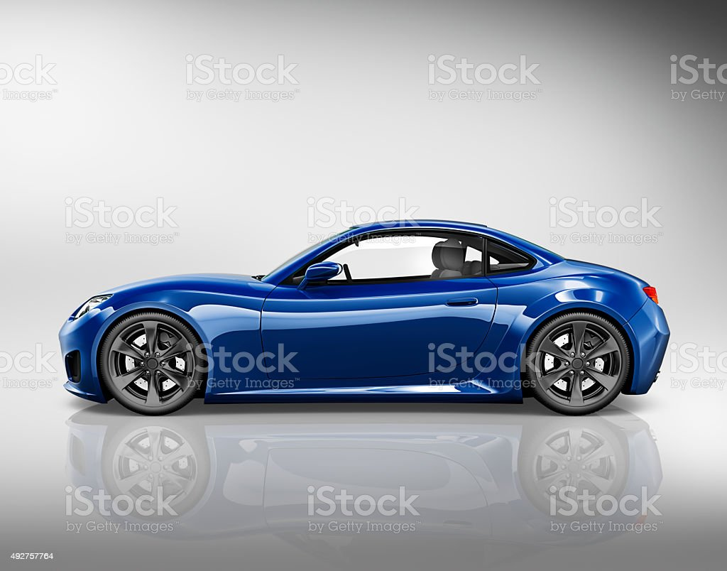 Car Vehicle Transportation 3D Illustration Concept stock photo