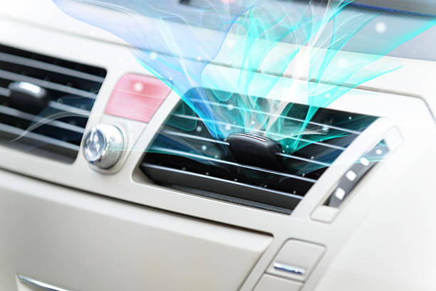 Car ventilation system stock photo
