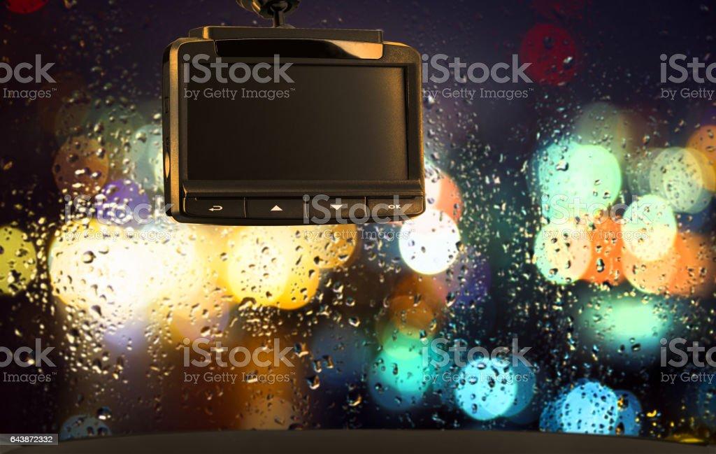 Car video recorder. stock photo