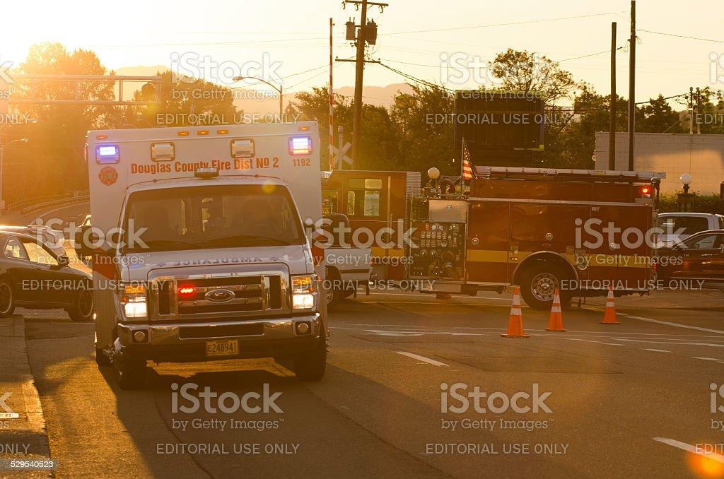 Car vs Hydrant stock photo