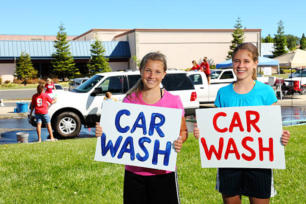 Car Wash Fundraiser  gchutka stock pictures, royalty-free photos & images