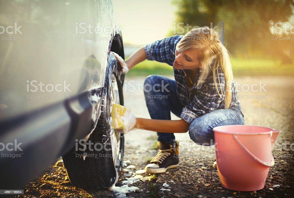 Lavage de voiture. - Photo