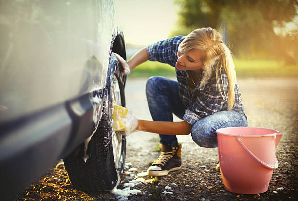 Lavage de voiture. - Photo