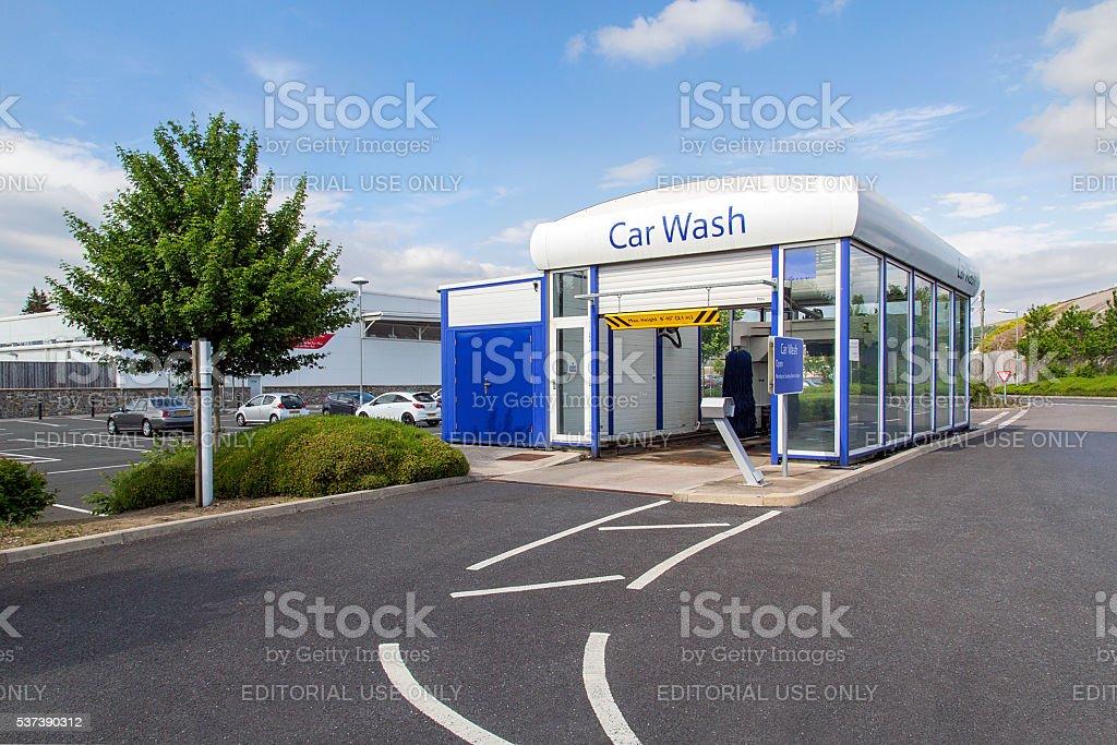 Lavado de coches-Tesco - foto de stock