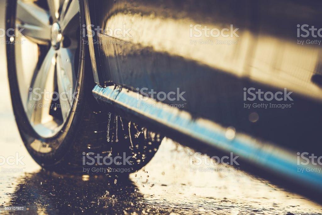 Car Washing Details Closeup - foto de stock