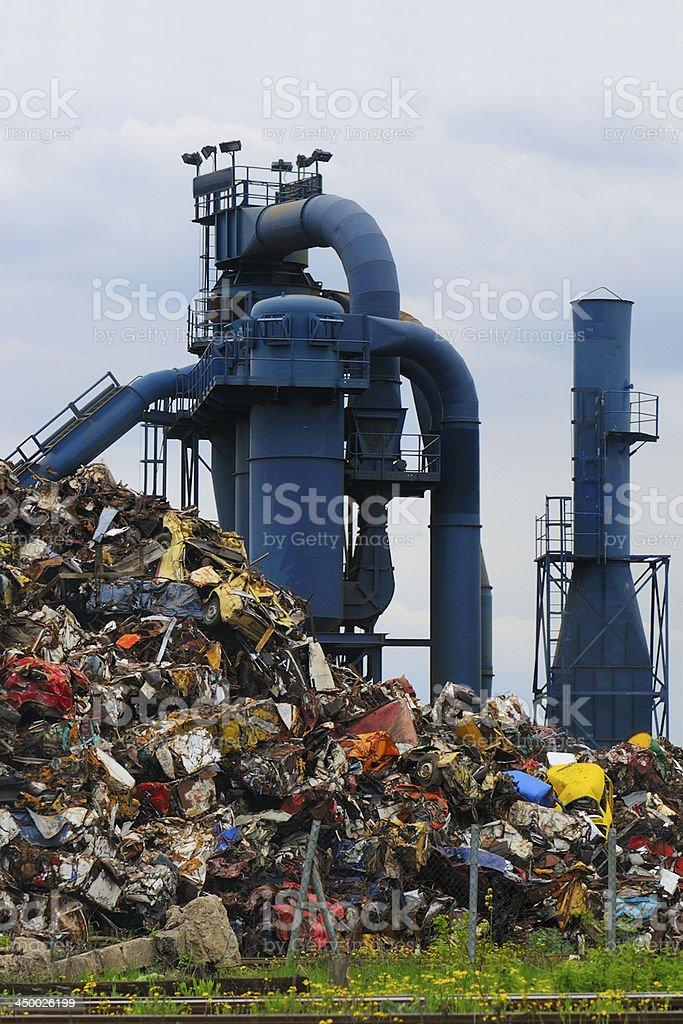 Car waste royalty-free stock photo