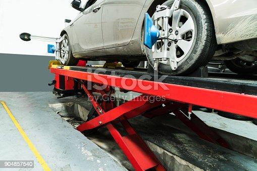 154934986 istock photo Car wheel alignment 904857540