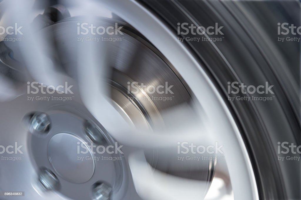 car wheel and brake disc closeup Lizenzfreies stock-foto