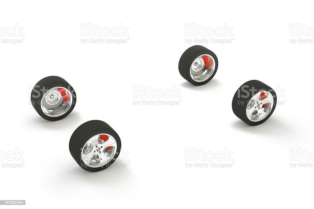 Car wheel and brake royalty-free stock photo