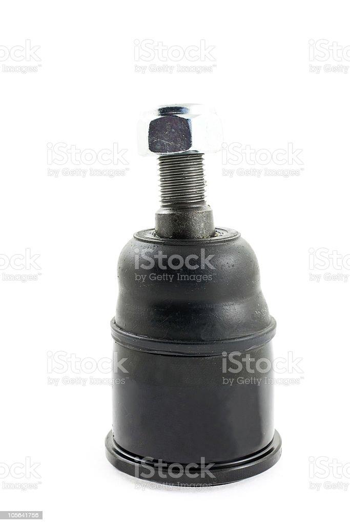 car wheel ball joint isolated stock photo