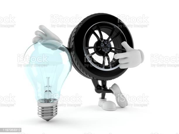 Car wheel character with light bulb picture id1197053312?b=1&k=6&m=1197053312&s=612x612&h=attt2jttfxe1ri5 fmz5mddny4zcrnnfddilv5e5ehk=