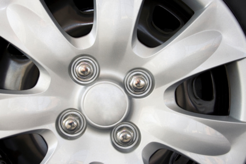 White shine car wheel background