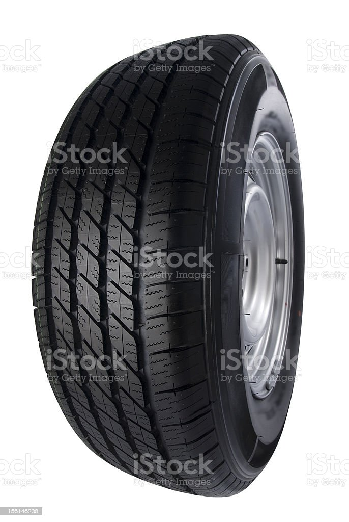 Car wheel on white royalty-free stock photo