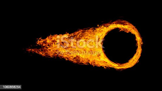 istock car wheel or circle enveloped in flames isolated on black background. 1060858254