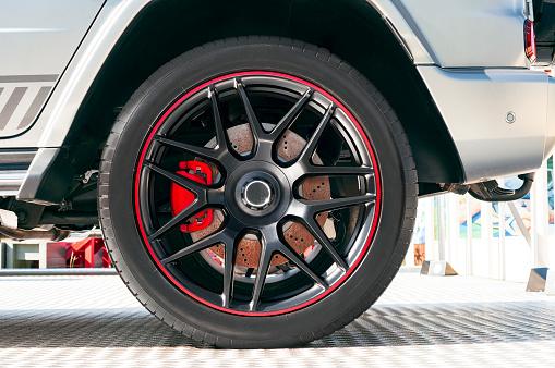 istock Car wheel 1058090886