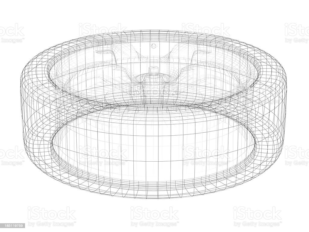 Car wheel stock photo more pictures of abstract istock blueprint circle document metal plan car wheel malvernweather Gallery
