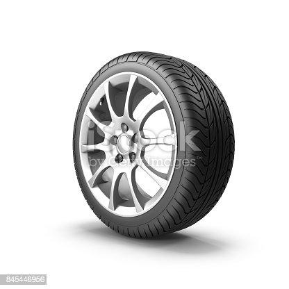istock Car Wheel 845446956