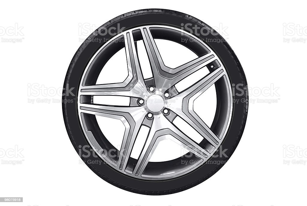 car wheel with aluminum rim royalty-free stock photo