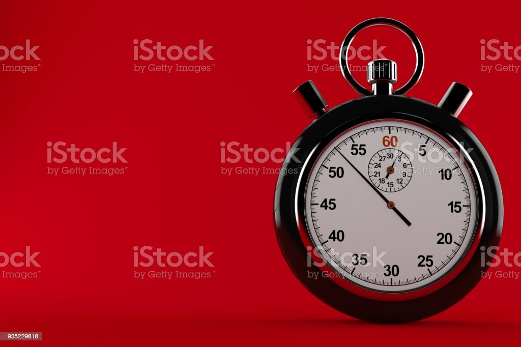 Car wheel with stopwatch stock photo