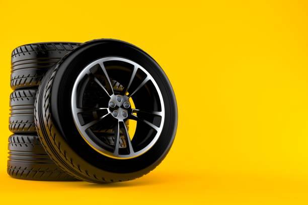 Car wheels sets - foto stock