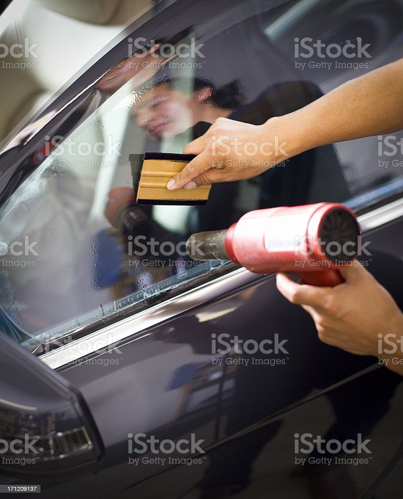 Car Window Tinting royalty-free stock photo