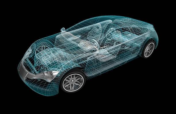Modélisation 3D de voiture. Mon propre design - Photo
