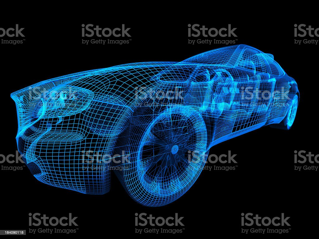 Car Wireframe stock photo
