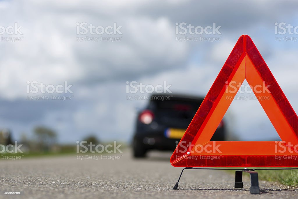 Car with a breakdown royalty-free stock photo